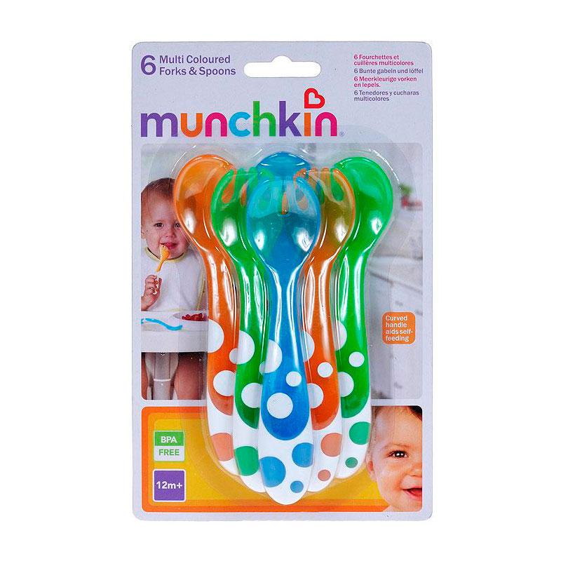 Набор столовых приборов Munchkin Пластиковые ложки и вилки 6шт (с 12 мес)<br>