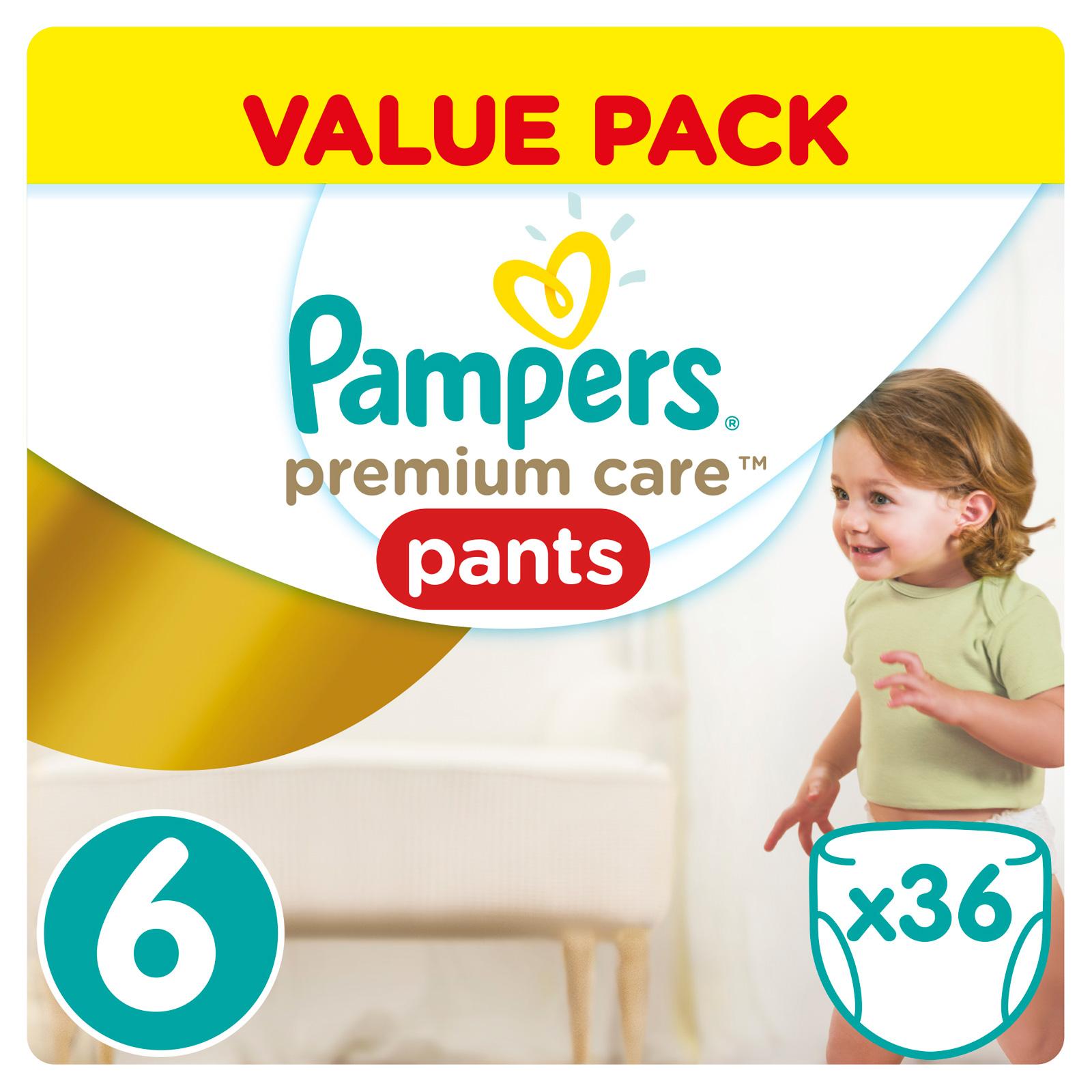Трусики Pampers Premium Care 16+ кг (36 шт) Размер<br>