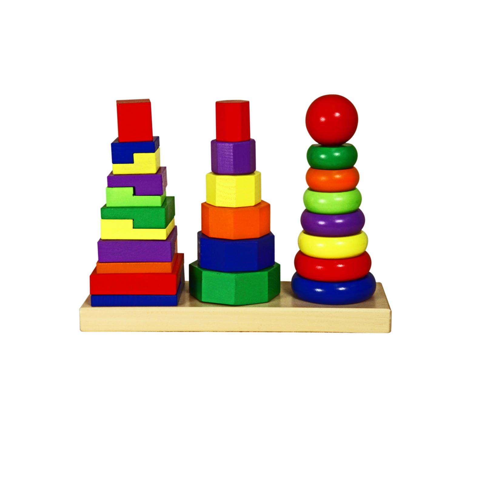 Игрушка Viga Геометрические пирамидки<br>