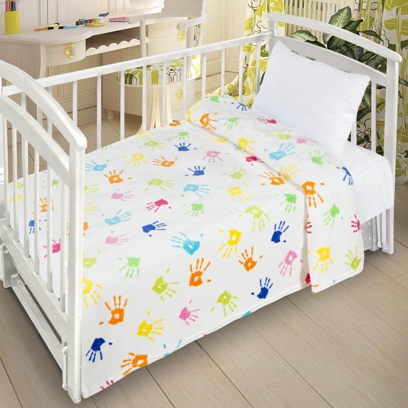 Плед Letto Велсофт-беби в кроватку VB03 Белый