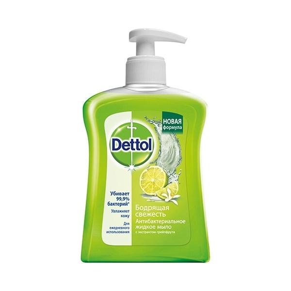 Мыло жидкое Dettol для рук Бодрящая свежесть с экстрактом грейпфрута 250 мл<br>