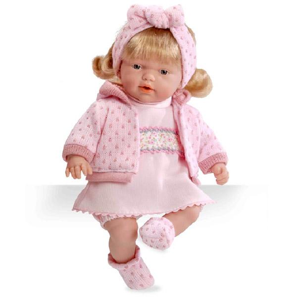 Кукла Arias 26 см Блондинка мягкая функциональная в розовой одежке<br>
