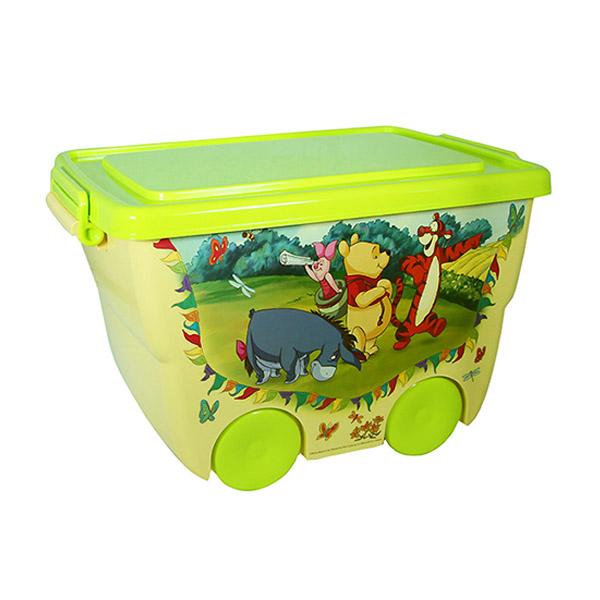 Ящик для игрушек Disney на колёсах ВИННИ Банановый<br>