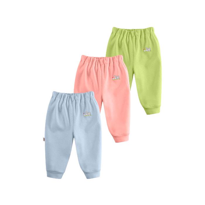 Комплект Наша Мама Be happy штанишки (3 шт) рост 68 голубой, розовый, салатовый<br>