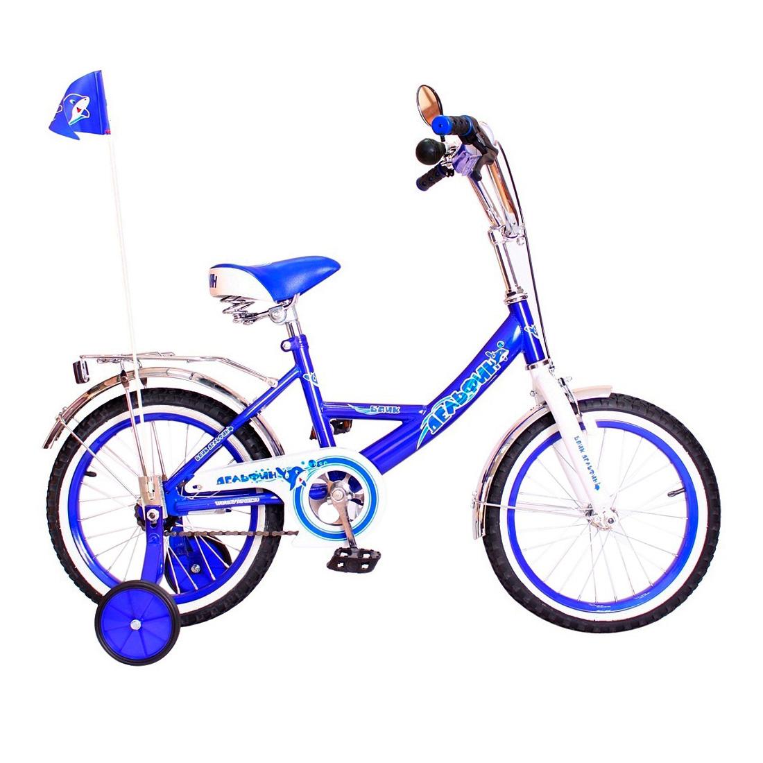 Велосипед двухколесный RT BA Дельфин 16 KG1605 Синий<br>