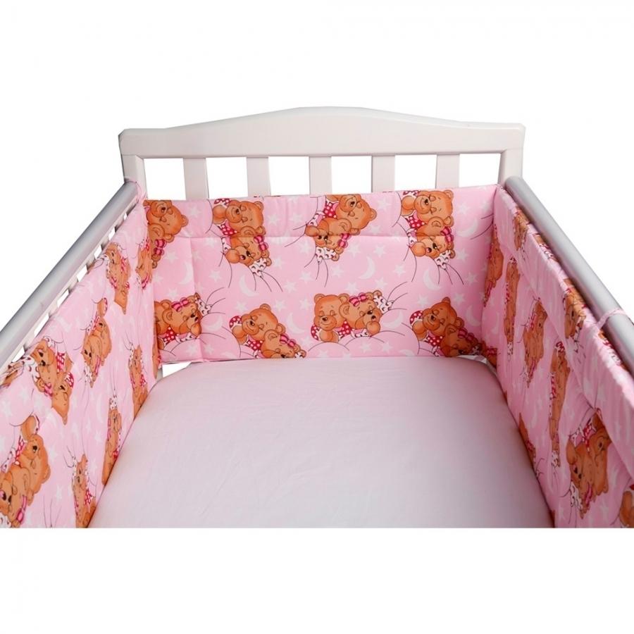 Бортик Bambola в кроватку Сони Розовый<br>