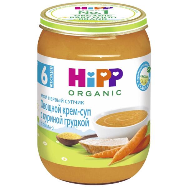 Пюре Hipp Мой первый супчик 190 гр Овощной с куриной грудкой (с 6 мес)<br>