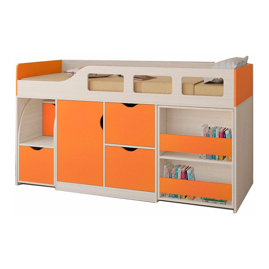Набор мебели РВ-Мебель Астра 8 Дуб молочный/Оранжевый<br>