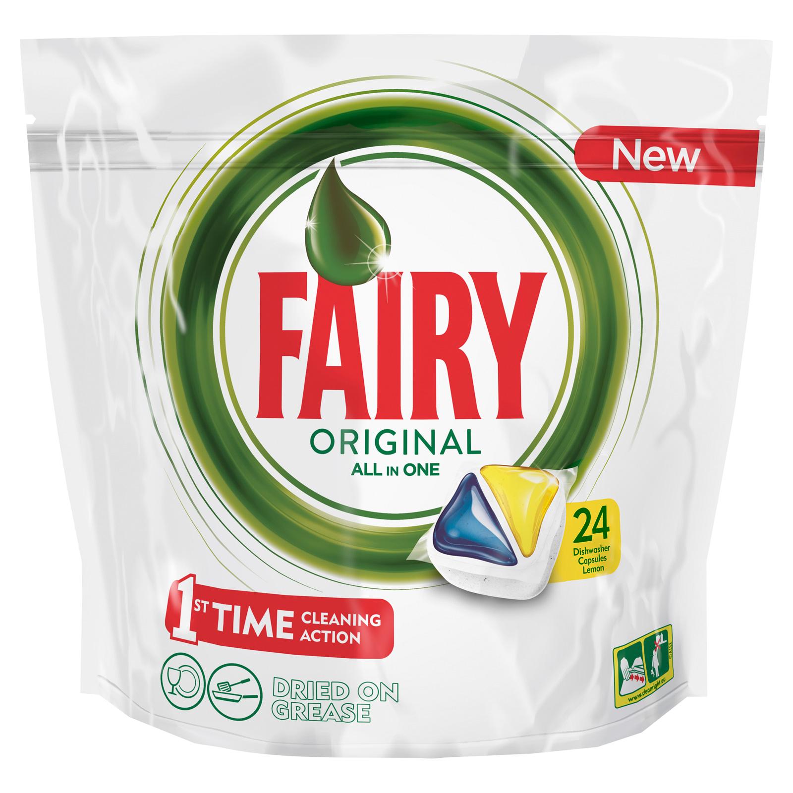 Капсулы для посудомоечной машины FAIRY Original All In One Лимон (24 шт)<br>