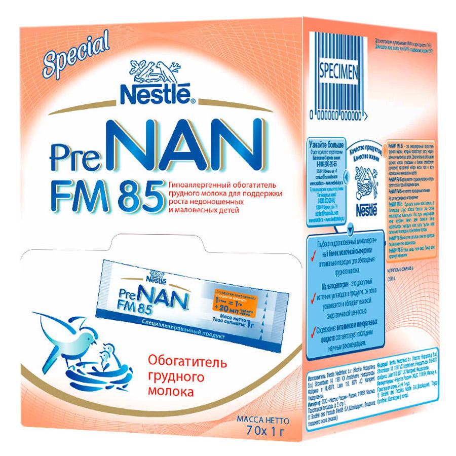 Обогатитель грудного молока Nestle Pre NAN FM 85 70*1 гр с 0 мес<br>