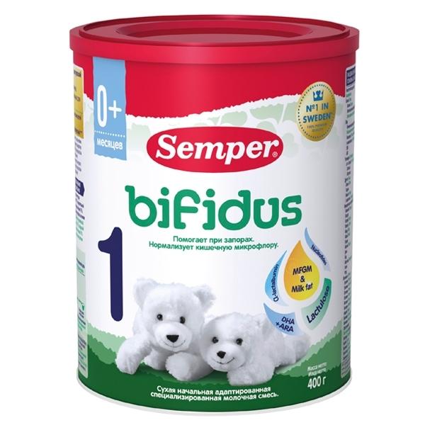 Заменитель Semper Бифидус 400 гр №1 (с 0 мес)<br>