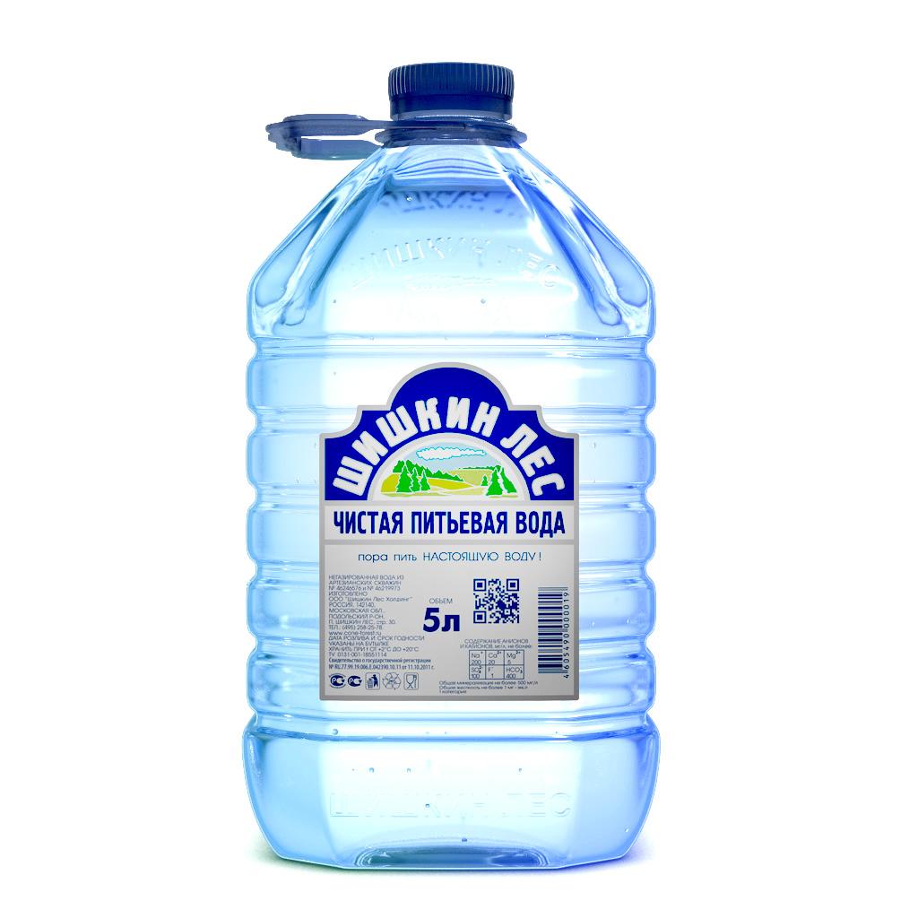 Вода питьевая Шишкин лес 5 л.