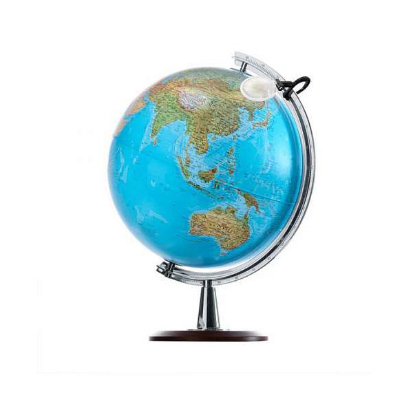 Глобус NOVA RICO ATLANTIS диаметр 40 см подсветка, лупа и деревянная подставка<br>
