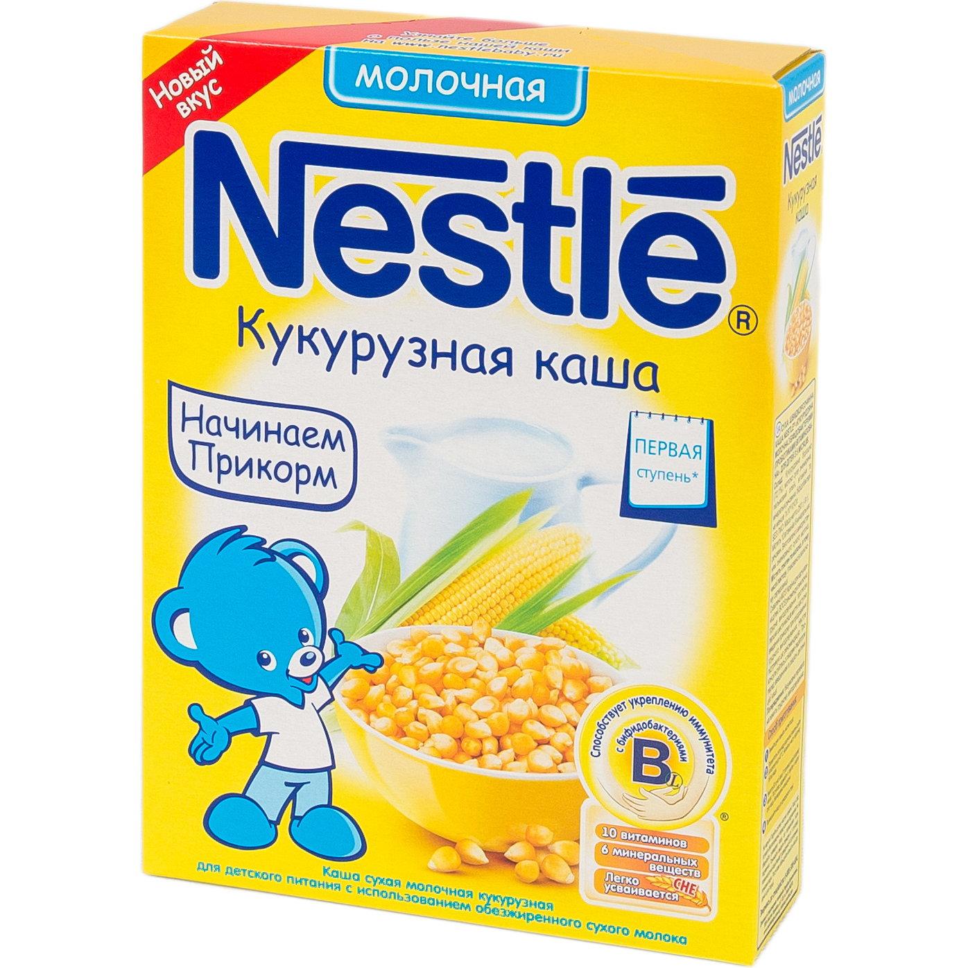 Каша Nestle молочная 250 гр Кукурузная (1 ступень)