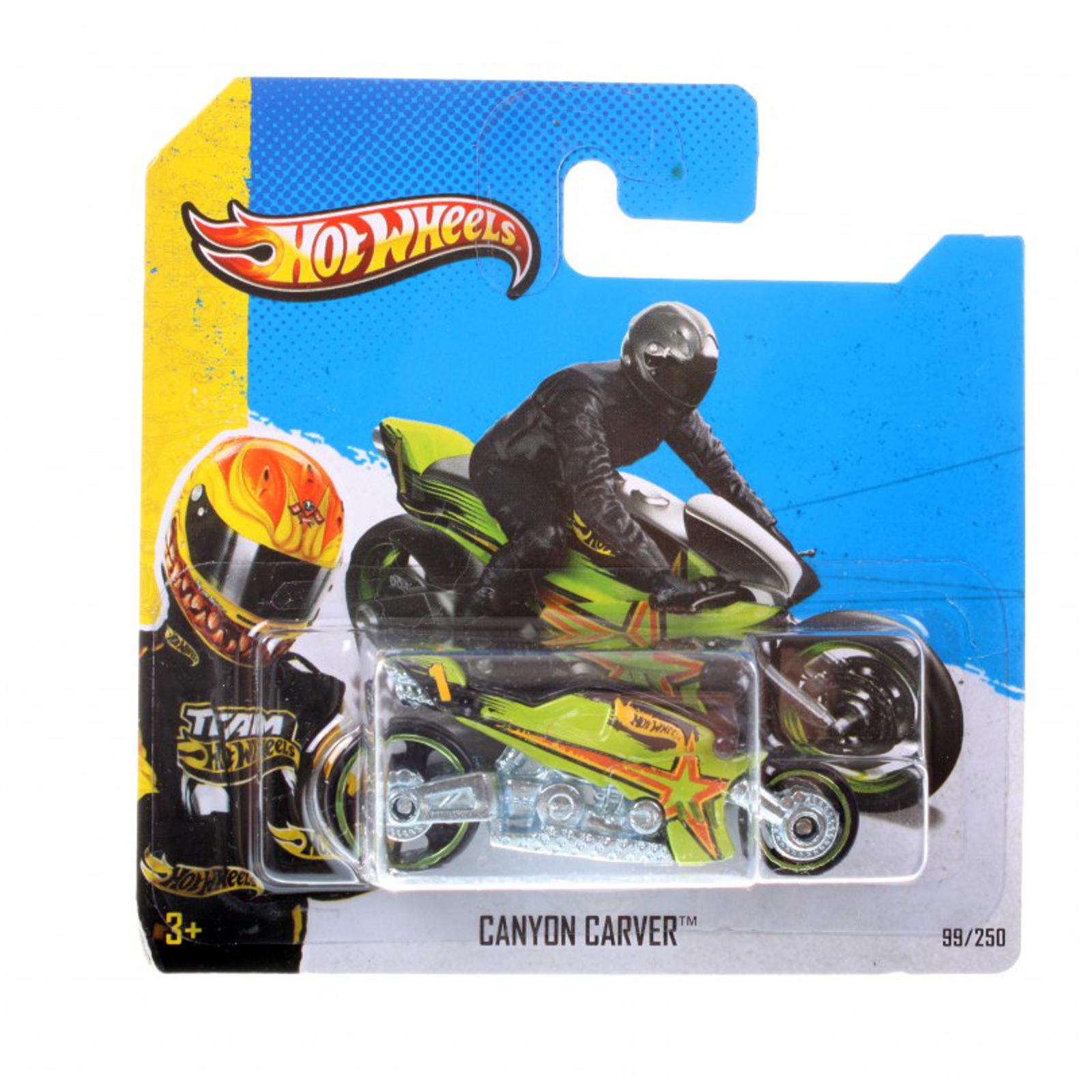 Мотогонщики Hot Wheels для треков Canyon Carver