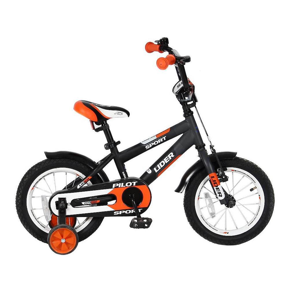 Велосипед двухколесный Velolider 14 Lider Pilot LP14HO Черный/Оранжевый<br>