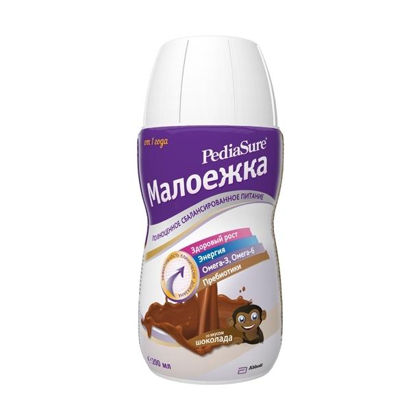 Питание PediaSure Малоежка  200 мл 1.0 со вкусом шоколада (с 12 мес)