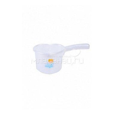 Ковшик для детской ванны Little Angel Белый с перламутром