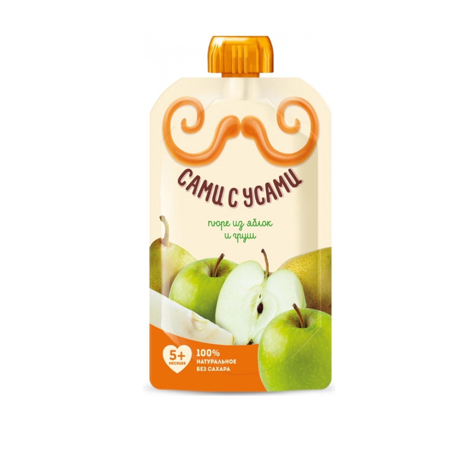 Пюре Сами с усами фруктовое 100 гр Яблоко с грушей (с 5 мес)<br>
