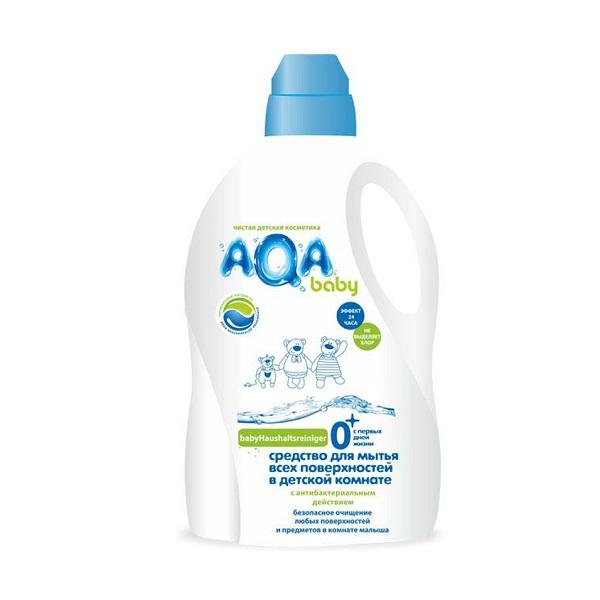 Средство для всех поверхнеостей AQA baby с антибактериальным эффектом 1000 мл<br>