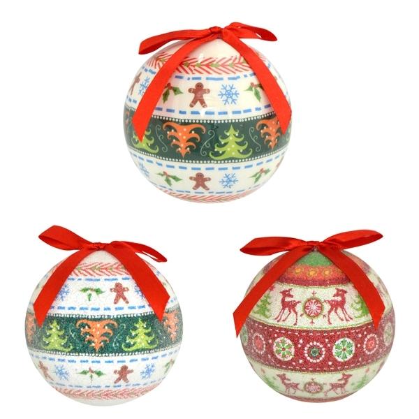 Набор шаров Winter Wings Лесные узоры 7.5 см пластик 14 штук в подарочной коробке<br>