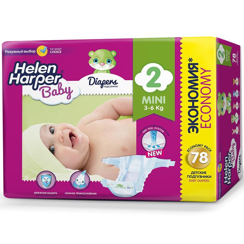 Подгузники Helen Harper Baby Mini 3-6 кг. (78 шт.) Размер 2<br>