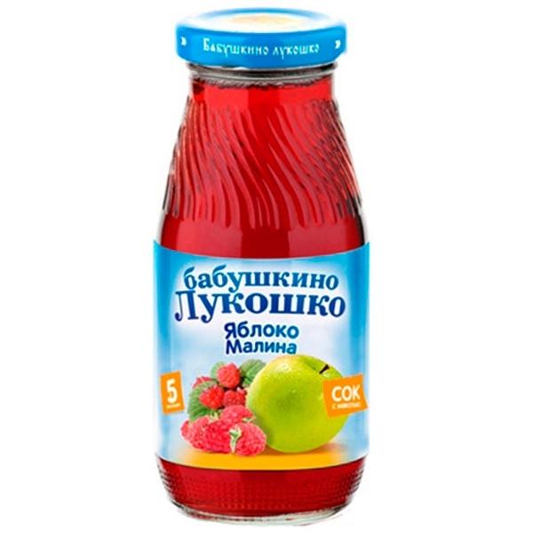 Сок Бабушкино лукошко 200 мл Яблоко с малиной (с 5 мес)<br>