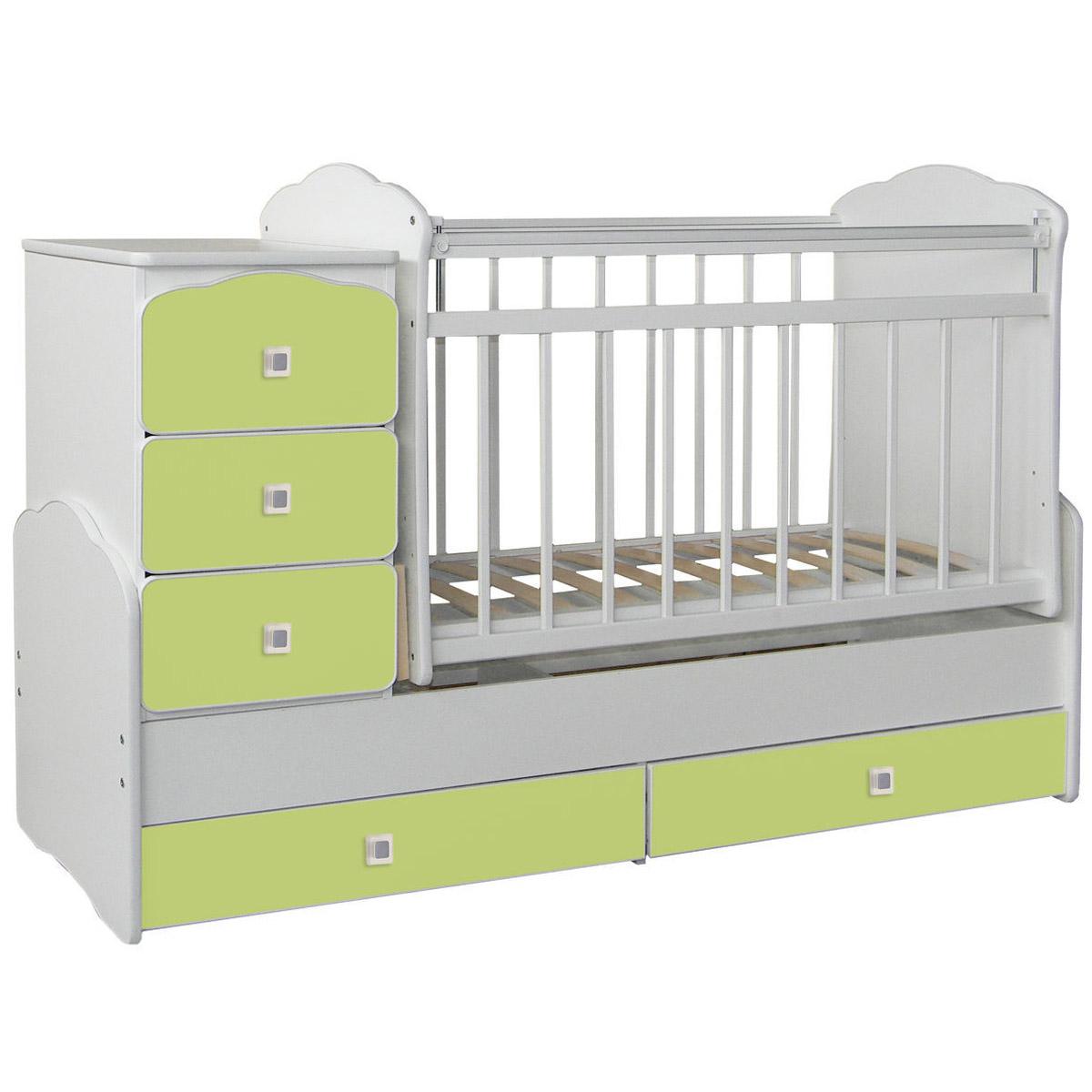 Кроватка-трансформер СКВ компани 93003 Зеленая<br>