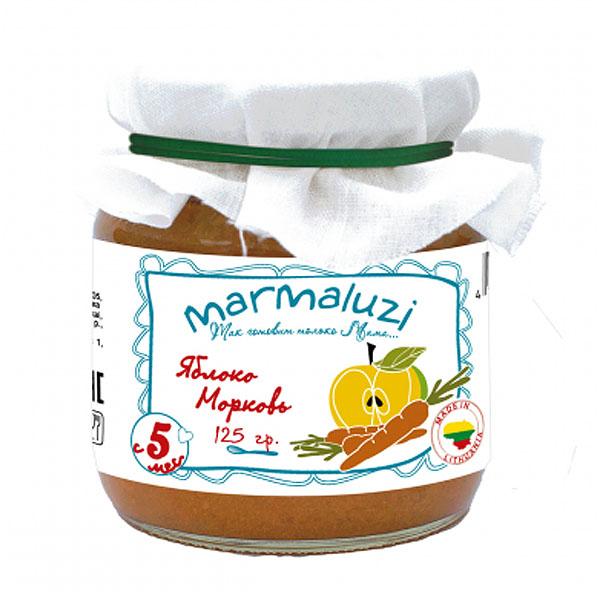 Пюре Marmaluzi овощное 125 гр Яблоко морковь (с 5 мес)<br>