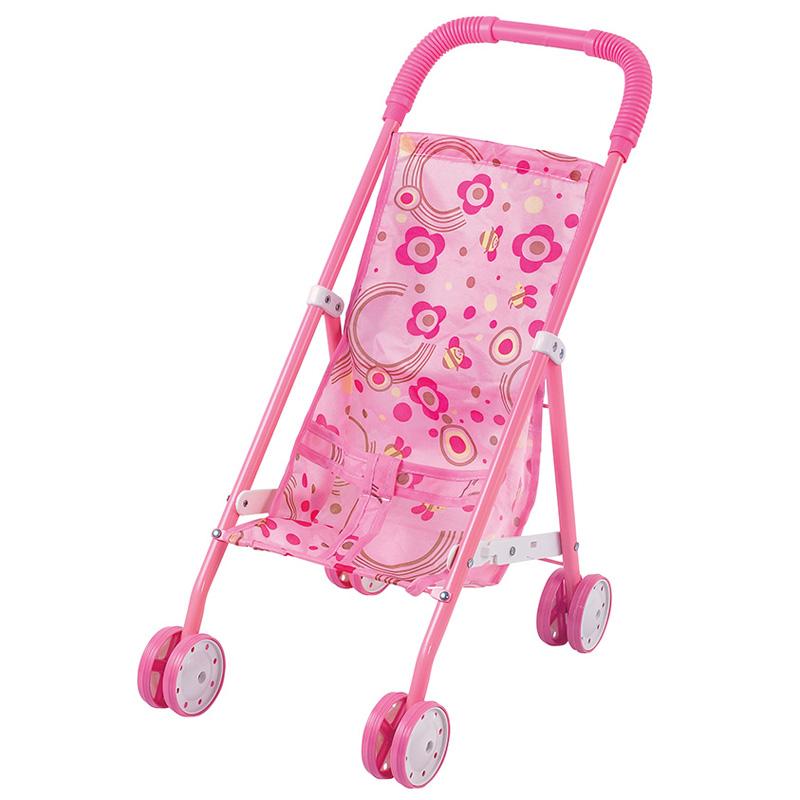 Коляска кукольная Fei Li Toys трость Розовая 37х24.5х52см<br>