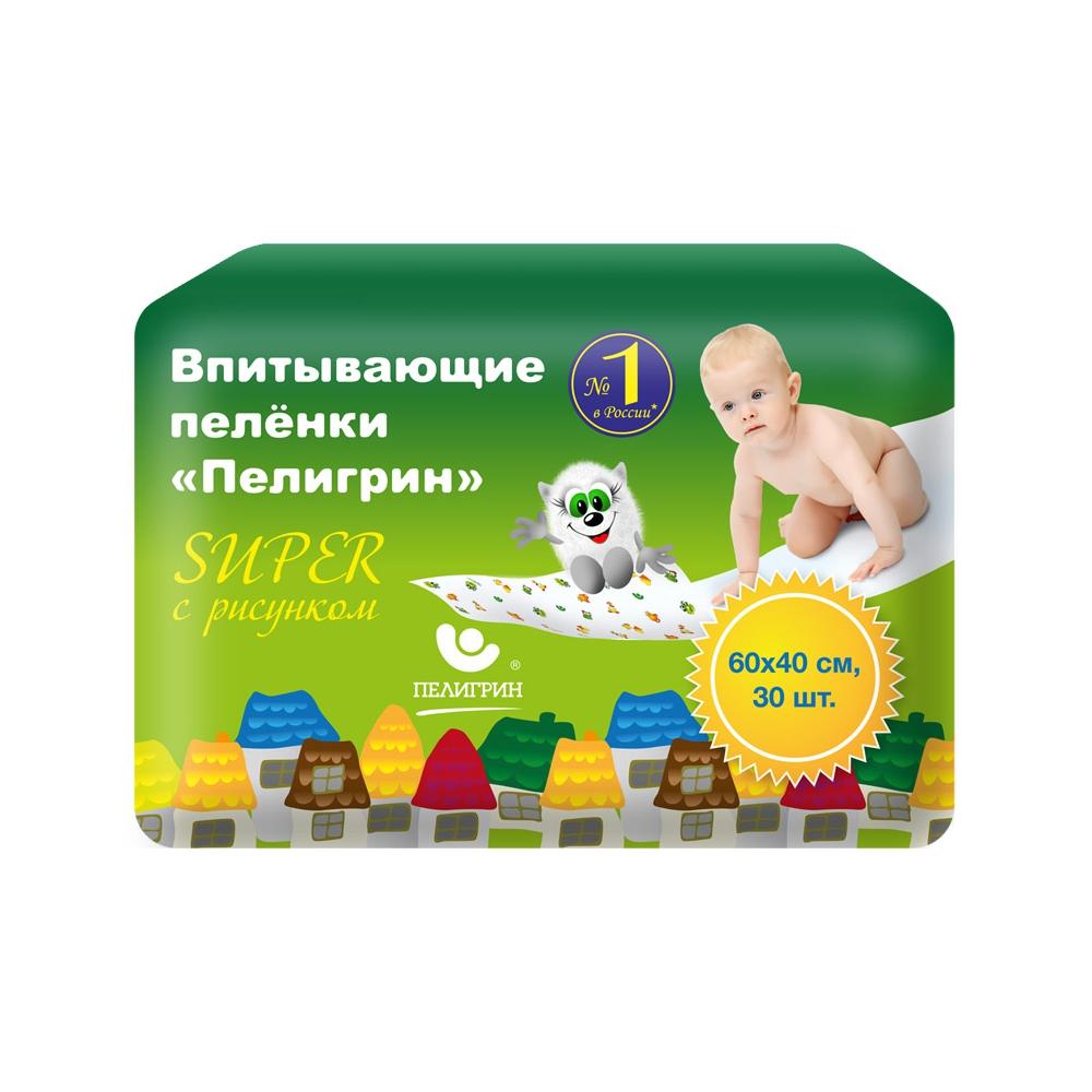Пеленки Пелигрин SUPER 40х60 см (30 шт)<br>