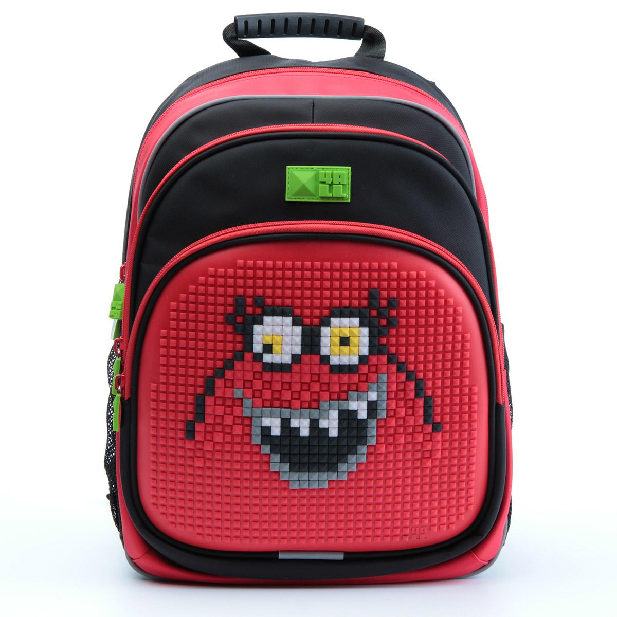Рюкзак детский 4all KIDS Сеньор Помидор Черный / Красный + Пиксели<br>