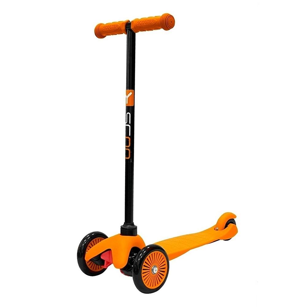 Самокат Y-SCOO mini A-5 Simple с цветными колесами Orange<br>