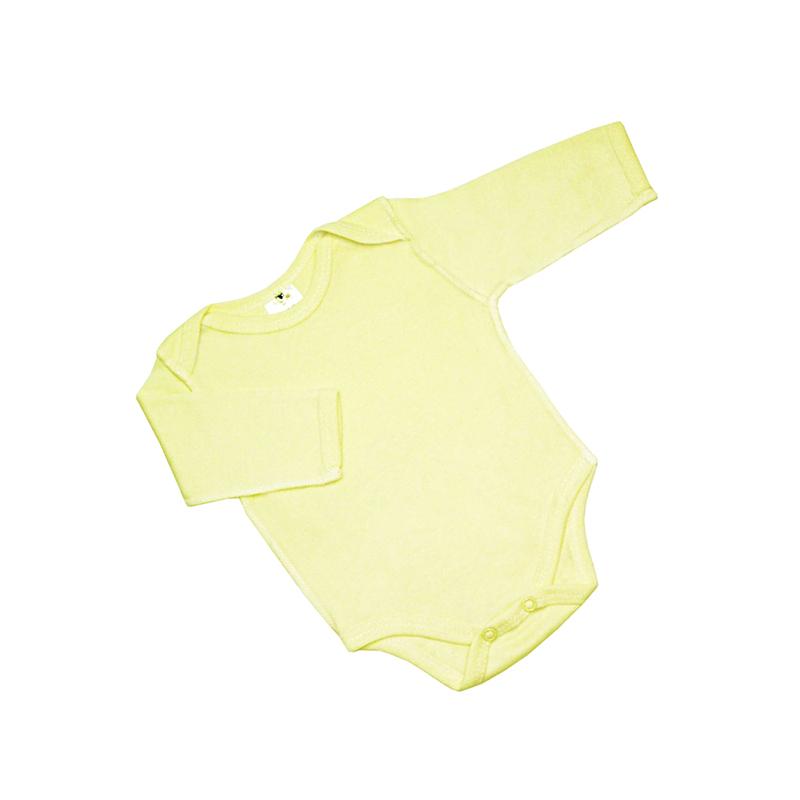 Боди с рукавом КОТМАРКОТ, цвет желтый 0-1 мес (размер 56)<br>
