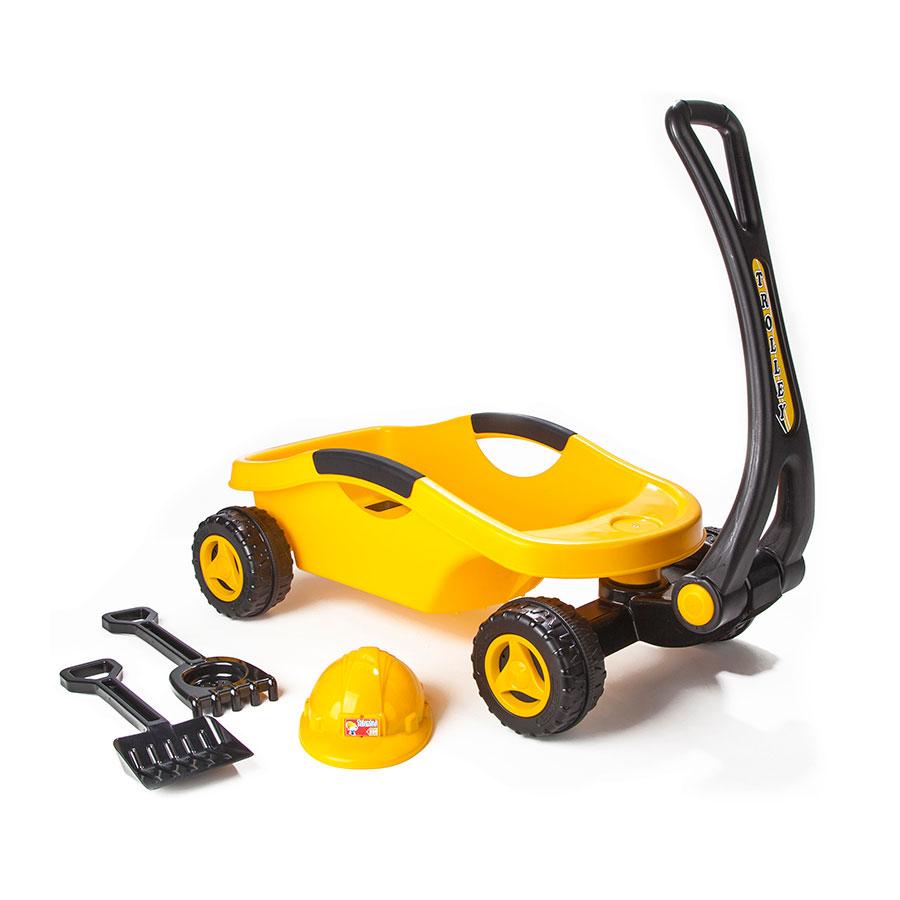 Игрушки для песочницы Pilsan Тележка строительная с каской<br>