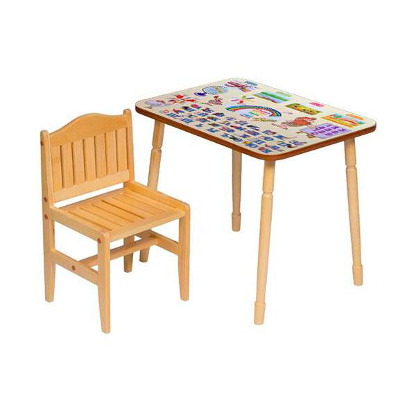 Набор мебели Папа Карло стол и стул Желтый<br>