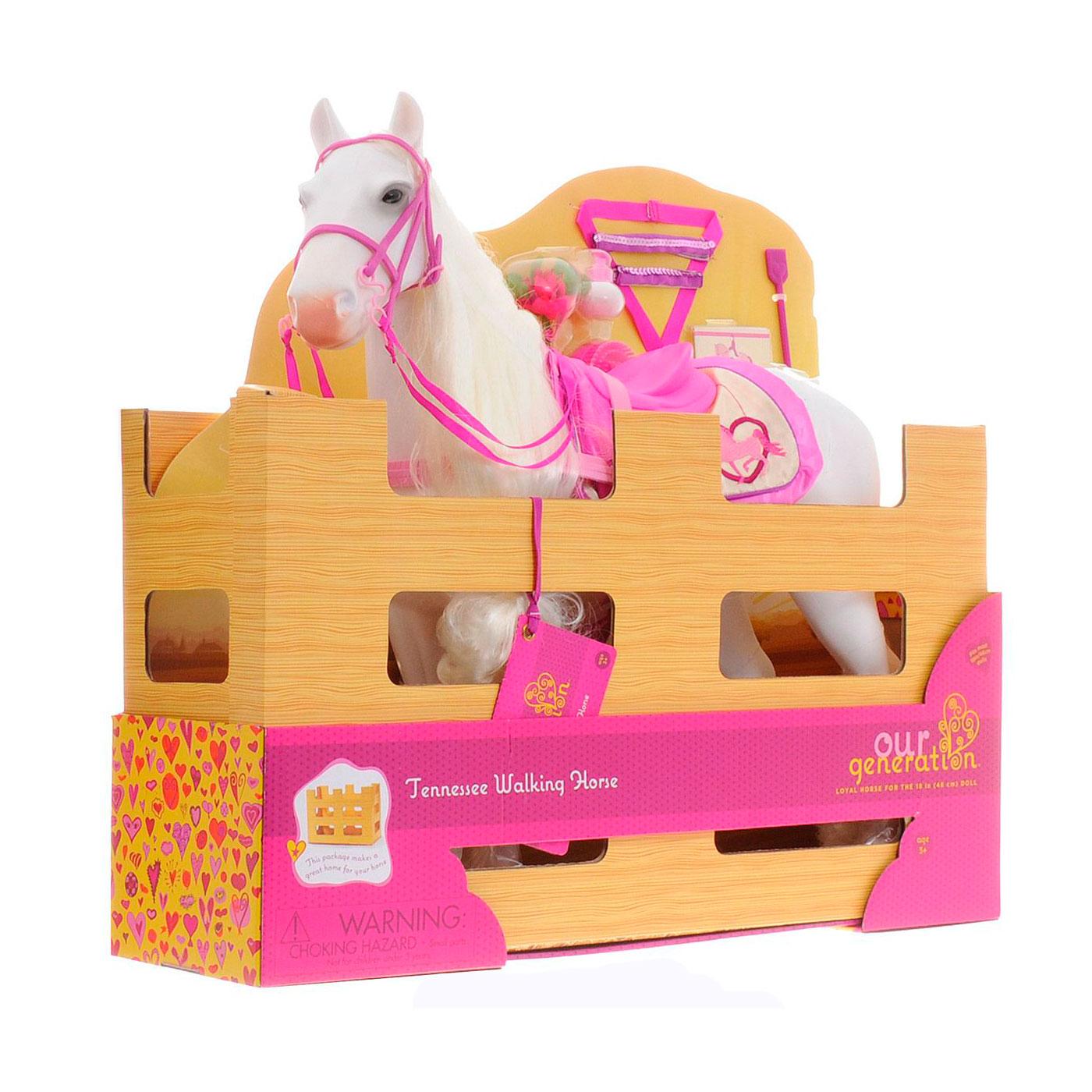 Лошадь Our Generation Лошадь Our Generation породы Камарилло с длинной гривой 50см с аксессуарами<br>