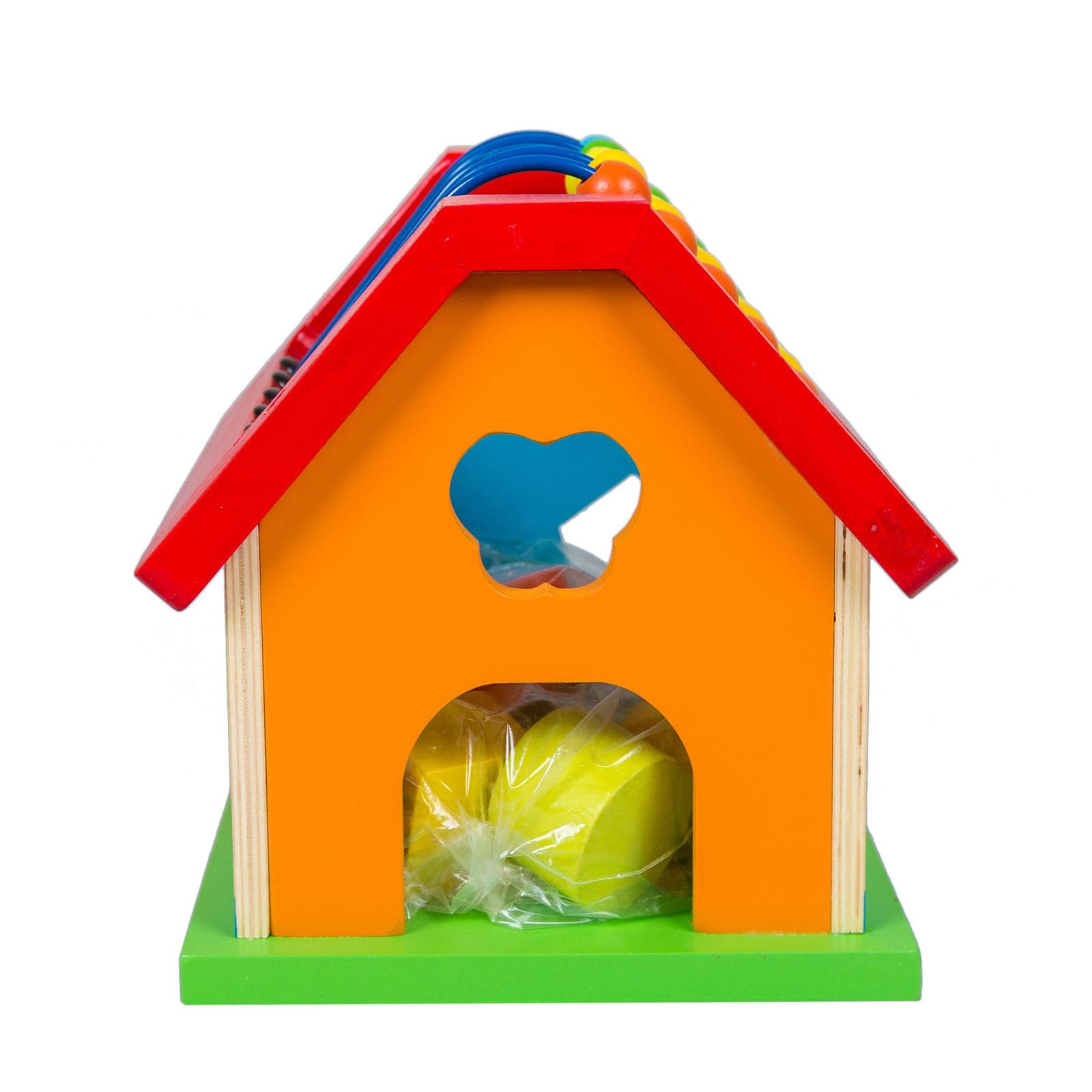 Развивающая игрушка Eichhorn Развивающая игрушка-сортер Домик с 12 мес. от Младенец.ru
