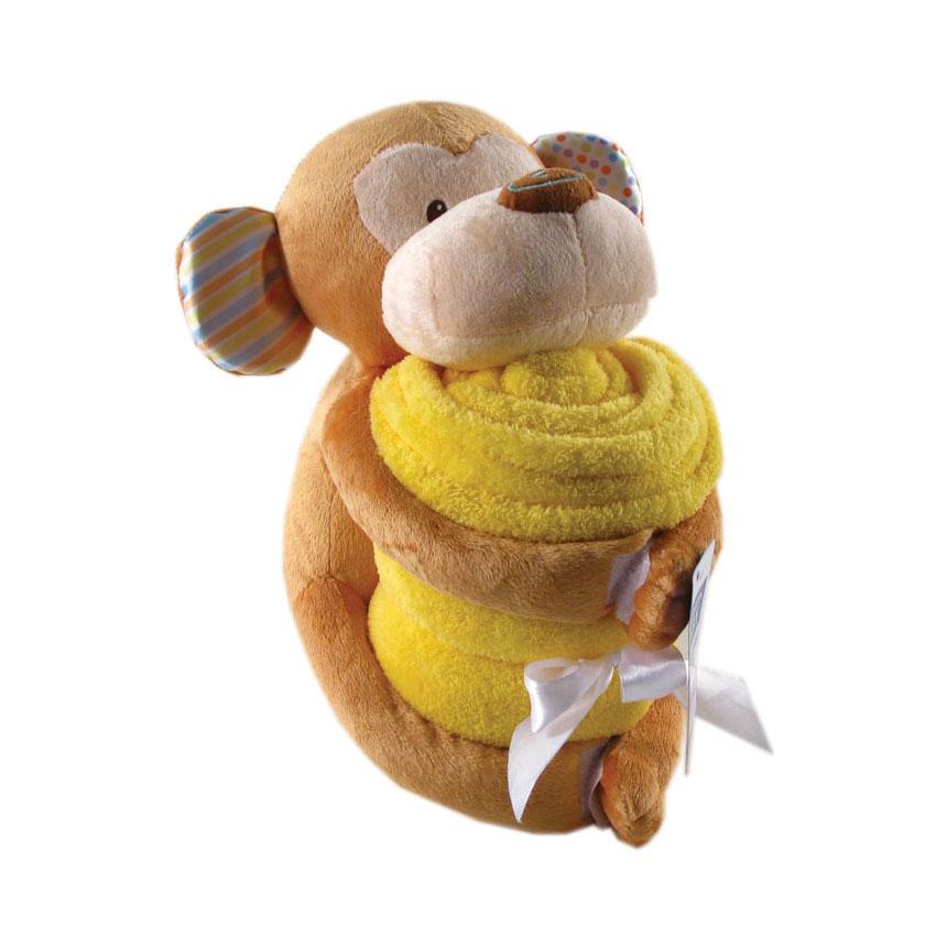 Комплект Hudson Baby Плед и игрушка, 2 пр., цвет желтый от 0 мес. (76х101 см)