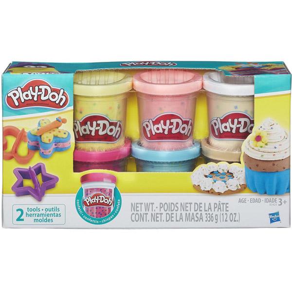 Игровой набор Play-Doh 6 баночек с конфетти<br>