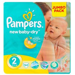 Подгузники Pampers New Baby Mini 3-6 кг (94 шт) Размер 2