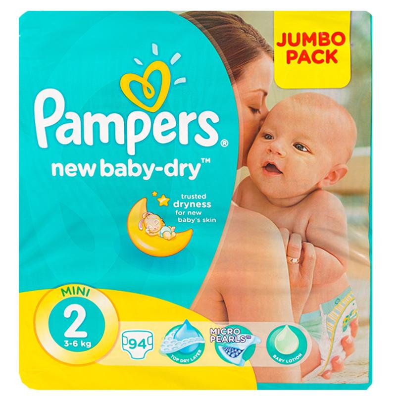 Подгузники Pampers New Baby Mini 3-6 кг (94 шт) Размер 2<br>
