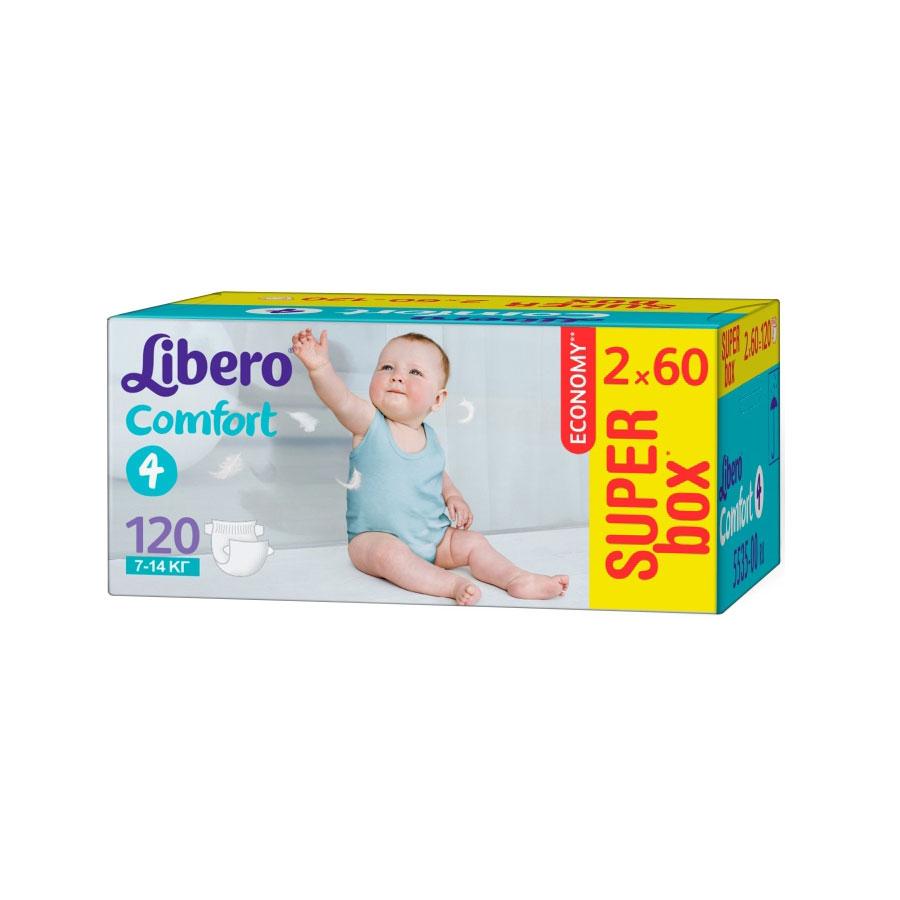 Подгузники Libero Comfort Maxi 7-14 кг (120 шт) Размер 4<br>