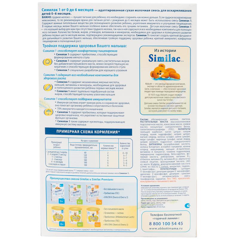 Заменитель Similac 700 гр №1 (с 0 до 6 мес)