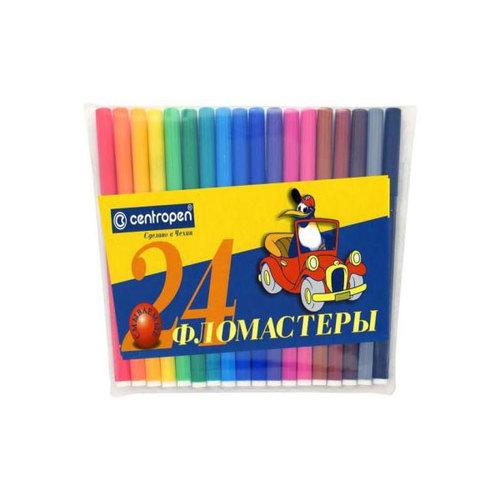 Набор маркеров Centropen FLIPCHART 2.5 мм 4 шт синий зеленый черный красный 8550/4 PVC 8550/4 PVC