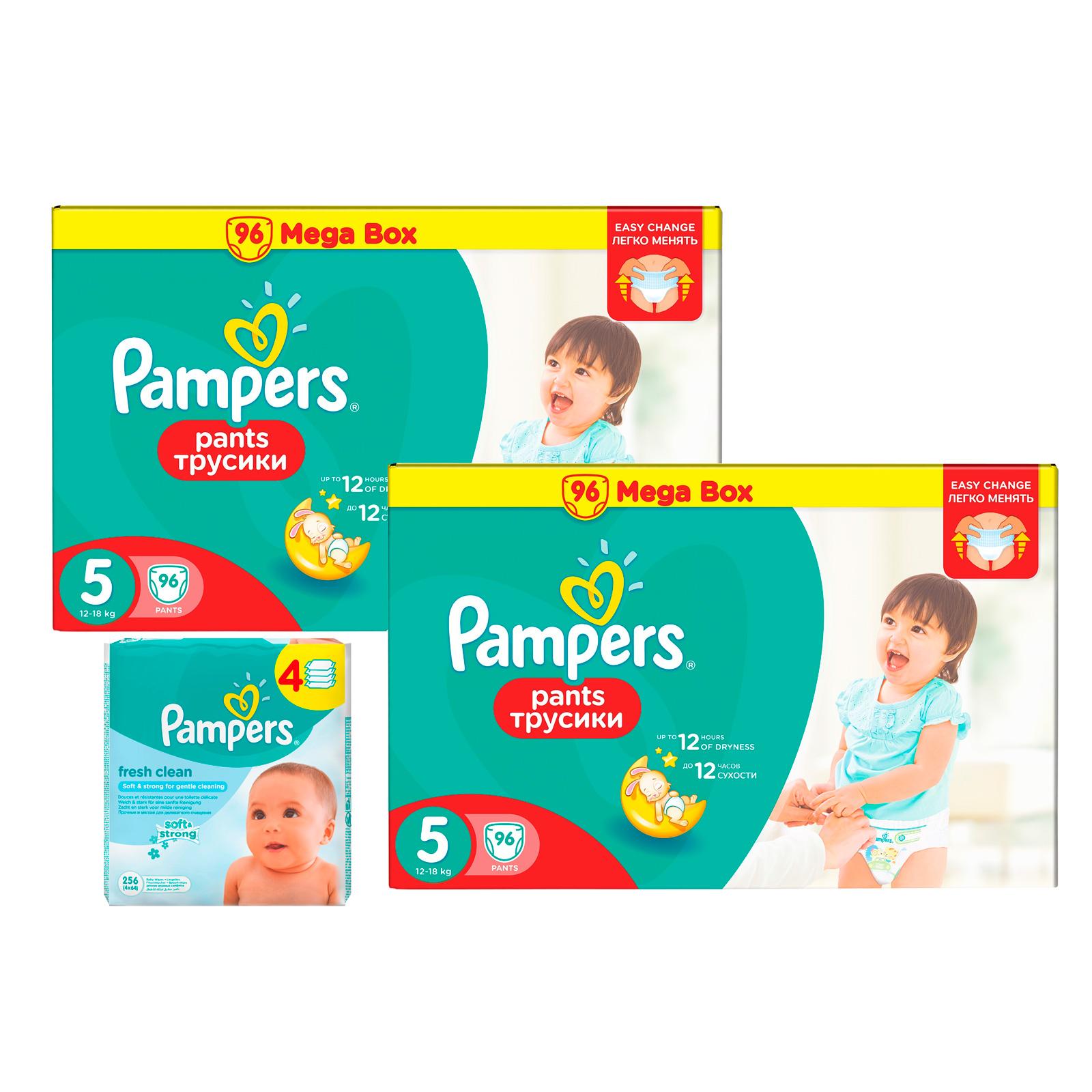 Набор Pampers №3 Трусики Pampers Pants 5 + салфетки<br>