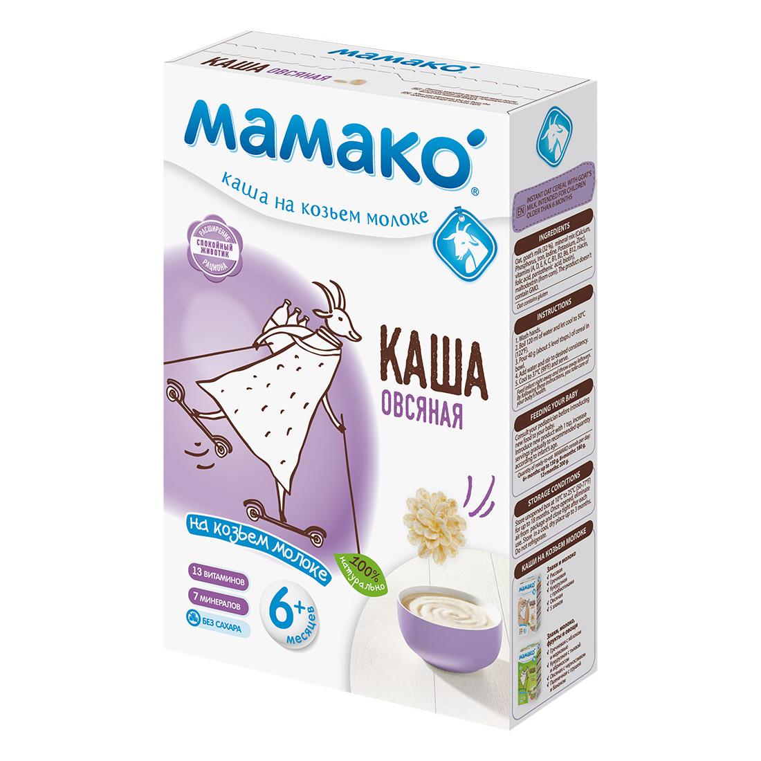 Каша Mamako на козьем молоке 200 гр Овсяная (с 6 мес)