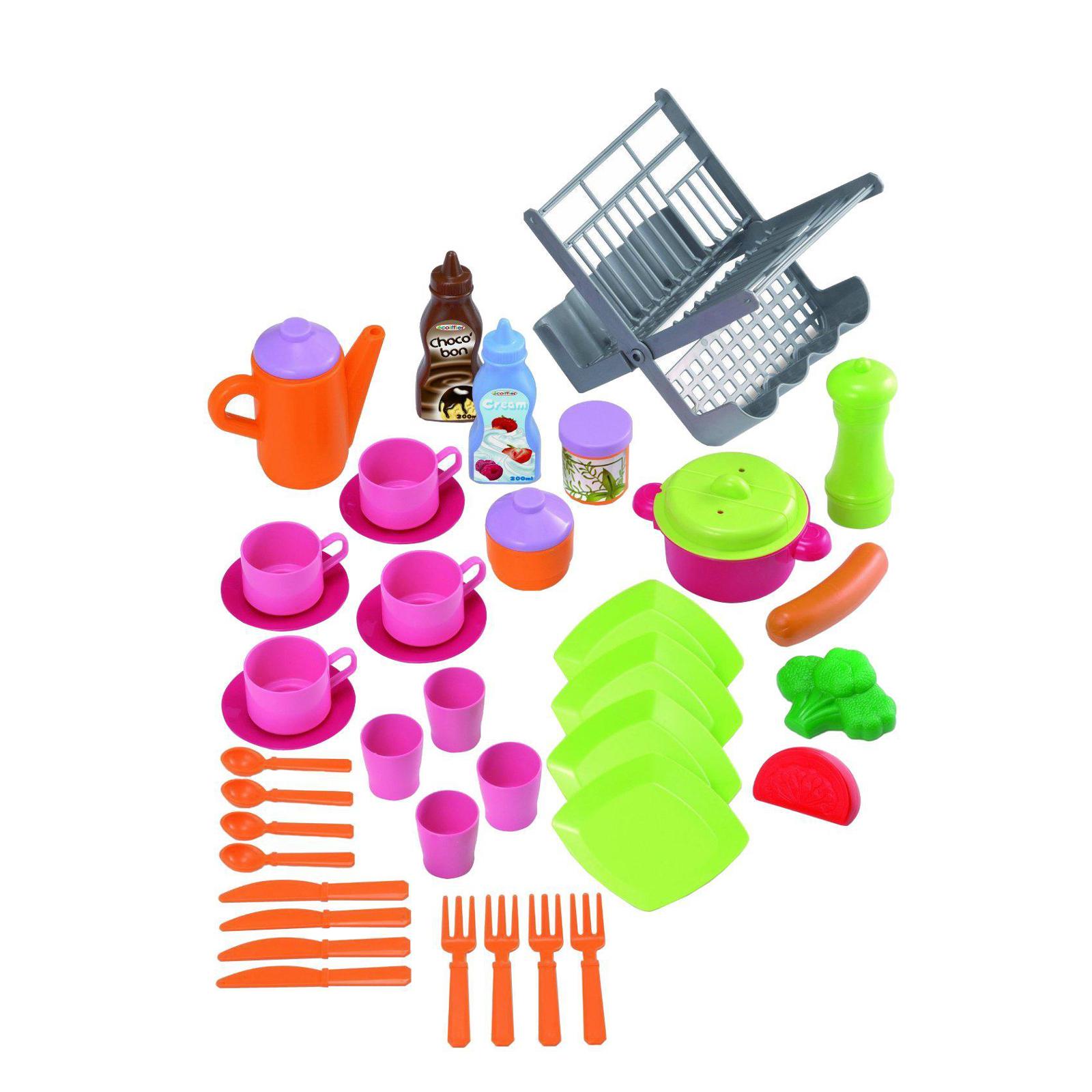 Игровой набор Ecoffier Сушилка для посуды с посудой (39 предметов)<br>