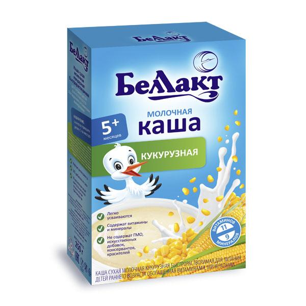 Каша БЕЛЛАКТ молочная быстрорастворимая 200 гр Кукурузная (с 5 мес)<br>
