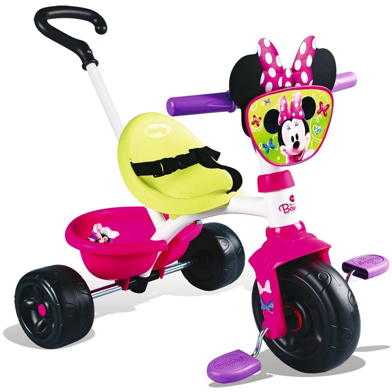 Велосипед Smoby Трехколесный с ручкой Minnie 68х52х52 см<br>